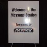 Rayovac Chair Massage Sign