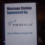 Tririga Chair massage sign