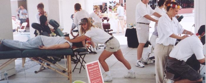 outdoor event massages