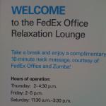 FedEx Chair Massage Sign