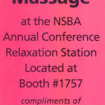 convention chair massage coupon